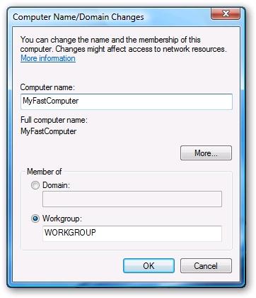 Cách đổi tên máy tính trên Windows Vista và Windows 7