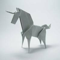 Cách xếp con kì lân (unicorn) Origami