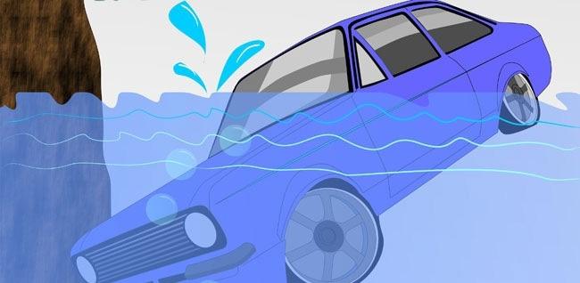 Cách giúp bạn sống sót khi xe bị chìm dưới nước