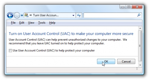 Vô hiệu hóa User Account Control trên Windows Vista và Windows 7 2