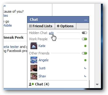 Cách ẩn nick đối với một số người nhất định trên Facebook Chat 5