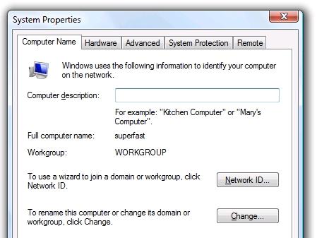 Cách đổi tên máy tính trên Windows Vista và Windows 7 2