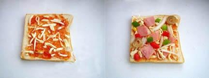 Cách làm bánh pizza từ bánh sandwich 2