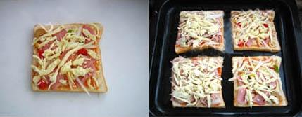 Cách làm bánh pizza từ bánh sandwich 3