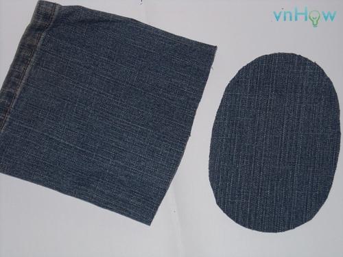 Cách làm chiếc túi nhỏ xinh từ quần Jean cũ 1