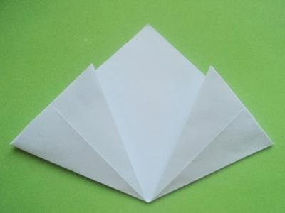 Cách xếp hoa anh đào bằng giấy 5