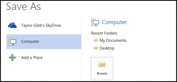 Thay đổi đường dẫn lưu tệp mặc định trên Office 2013 5